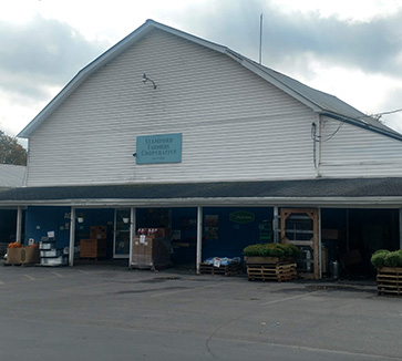 front of farm store